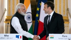 France and Indian leaders join forces to fight climate change.
