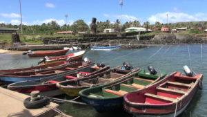 Fishermen's wharf in Rapa Nui